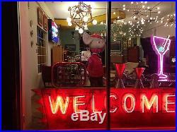 Vintage 1920's 1930's Original Welcome To Modesto Neon Sign Rare California