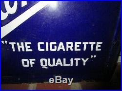 Vintage 1930's Piedmont Cigarette Porcelain 2 Sided Tobacco Sign