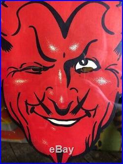Vintage 1933 Pluto Water Advertising Mask Sign Devil Freakshow Indiana