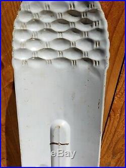 Vintage 1950's SUN CREST Tin Thermometer Bottle Sign ROBERTSON USA Original