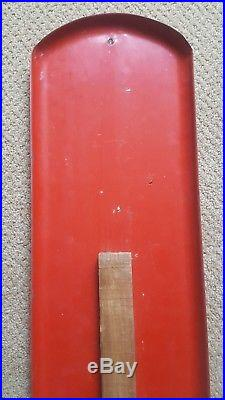 Vintage 1950s, 1960s Chew Mail Pouch Tobacco Metal Advertising Thermometer Sign
