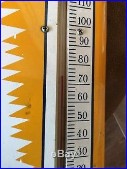 Vintage 1950s Dad's Root Beer Embossed Soda Pop Advertising Thermometer Sign