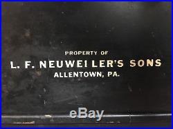 Vintage 1950s Neuweilers Cream Ale Lighted Embossed Glass Beer Advertising Sign