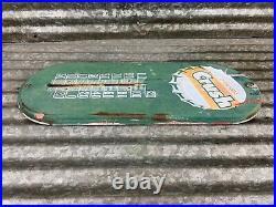 Vintage 1950s ORANGE CRUSH Thermometer / Sign