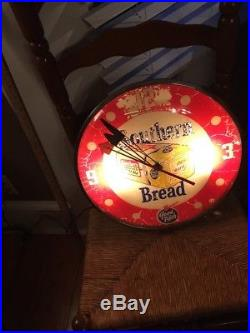 Vintage 1950s Pam Southern Bread Advertising Wall Clock Sign