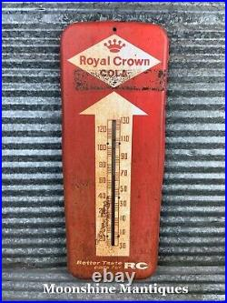 Vintage 1950s ROYAL CROWN COLA Thermometer / Sign