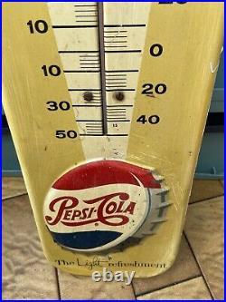 Vintage 1957 Pepsie Cola sign/thermometer