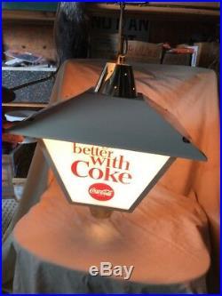Vintage 1960's Coca-Cola Supermarket Register Light-Up Sign