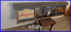 Vintage 1960's Hamm's Scene O Rama Motion Beer Lighted Sign Gas Oil Station Pump