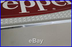 Vintage 1960's Tin Embossed Dr Pepper Sign Stout Sign Co 12 X 27