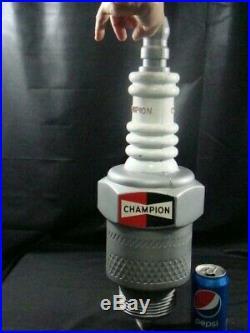 Vintage 1960s Champion Spark Plug LARGE Gas Service Station Garage Display Sign