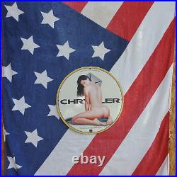 Vintage 1969 Chrysler Motors Corporation Porcelain Gas & Oil Metal Sign