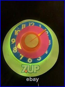 Vintage 1970's Peter Max 7 UP clock