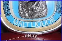 Vintage 1976 Schlitz Malt Liquor 3-D Light up Bull Advertising Bar Sign