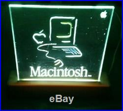 Vintage 1984 Apple Mac Macintosh Electric Picasso Dealer Advertising Sign Light