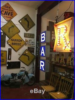 Vintage 2 Sided Bar Sign Corner Bar Philadelphia Shipping Available Non Neon