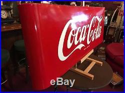 Vintage 43 COKE Coca Cola Porcelain Building Advertising Sign Watch Video