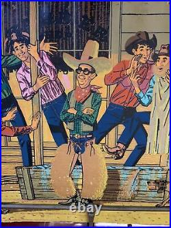 Vintage 50s LEVIs Jeans Cardboard WINDOW Advertising SIGN 32 x 96 B. Amundsen