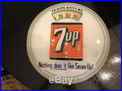 Vintage 7 Up Bubble Glass scale thermometer