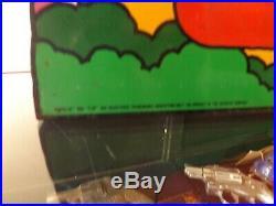 Vintage 7UP The Uncola Rainbow Metal Flange Sign Original MAXX Coke Cola Soda Ga