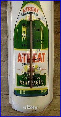 Vintage A-TREAT Beverages Ginger Ale THERMOMETER - 36 - sign old rare