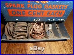 Vintage AC SPARK PLUGS GASKET METAL GAS STATION ADVERTISING DISPLAY RACK