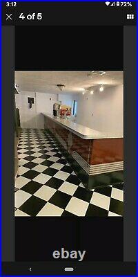 Vintage ART DECO 14' PORCELAIN Diner Lunch Counter SODA FOUNTAIN Malt Shop