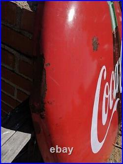 Vintage Advertising Porcelain Coca Cola Coke Button Sign 48