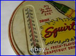 Vintage Advertising Thermometer- 1950's Squirt Soda 9 In. Thermometer- Drive-in
