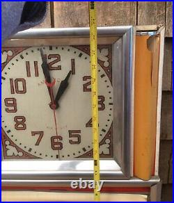 Vintage American Clock Light Up Advertising Diner Country Store Clock Menu Sign