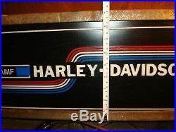 Vintage Amf Harley Davidson Motorcycle Lighted Sign