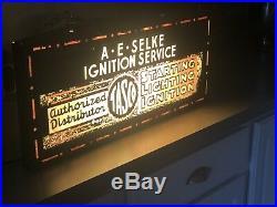 Vintage Antique Lighted Sign Ford, tasco, franklin, Hupmobile, stutz, auburn