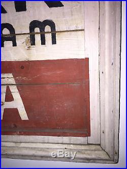 Vintage Antique Original Painted Advertising Folk Art Wpa Wood Trade Sign