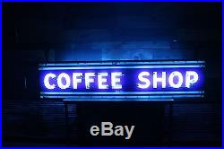 Vintage Art Deco Coffee Shop Porcelain Neon Sign From Downtown Chicago