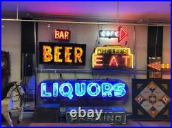 Vintage Art Deco Neon Eat Sign Shipping Available