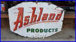 Vintage Ashland Gas & Oil Porcelain Sign