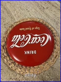 Vintage/Authentic Coca-Cola 12 Button Sign Of Good Taste Am-60
