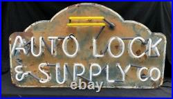 Vintage Automobile Supply Co. Neon Sign Crated Shipping Available