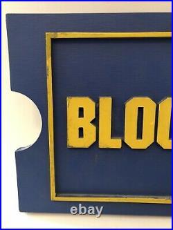 Vintage Blockbuster Video Retail Store Sign Original