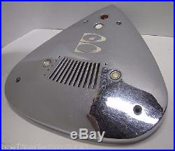Vintage Brunswick Bowling Alley Chrome Cover ball return air vent reset B sign