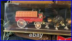 Vintage Budweiser Clydesdale Advertising Clock Sign Bar Light