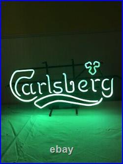 Vintage Carlsberg Beer Neon Sign Circa 1987 Bar Advertising Excellent Condition