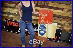 Vintage Carnation Milk Advertising Sign Dairy Farm 1950's Agriculture General