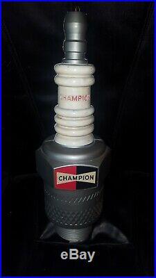 Vintage Champion Spark Plug Hanging Store Display Advertising Sign 22