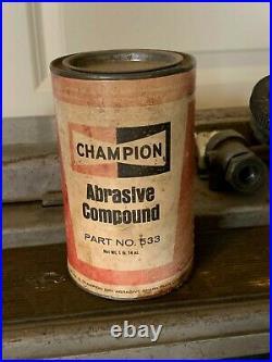 Vintage Champion Spark Plug Service Tester and Cleaner Gas Station Front Sign