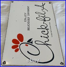 Vintage Chick Fil A Porcelain Sign Mcdonalds Burger King Chicken Fast Food Gas