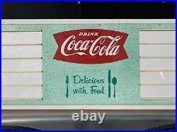 Vintage Coca Cola Menu Board Sign Metal Bottle Cap Button Food Restaurant Diner