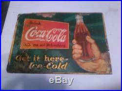 Vintage Coca Cola Tin Tacker Sign