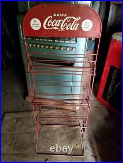Vintage Coca-cola Bottle Return Rack Coke Display Antique Carton Crate Pack Sign