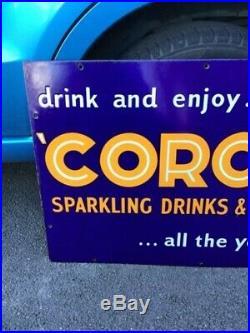 Vintage Corona enamel sign circ 1940s